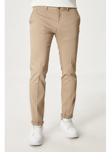 AC&Co / Altınyıldız Classics Slim Fit Dar Kesim Yan Cep Casual Pantolon 4A0121200022 Bej